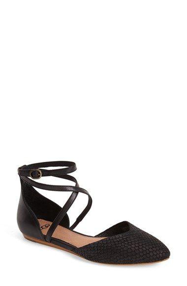 UGG® Australia 'Izabel Mar' Embossed Suede Ankle Strap Flat (Women) available at #Nordstrom