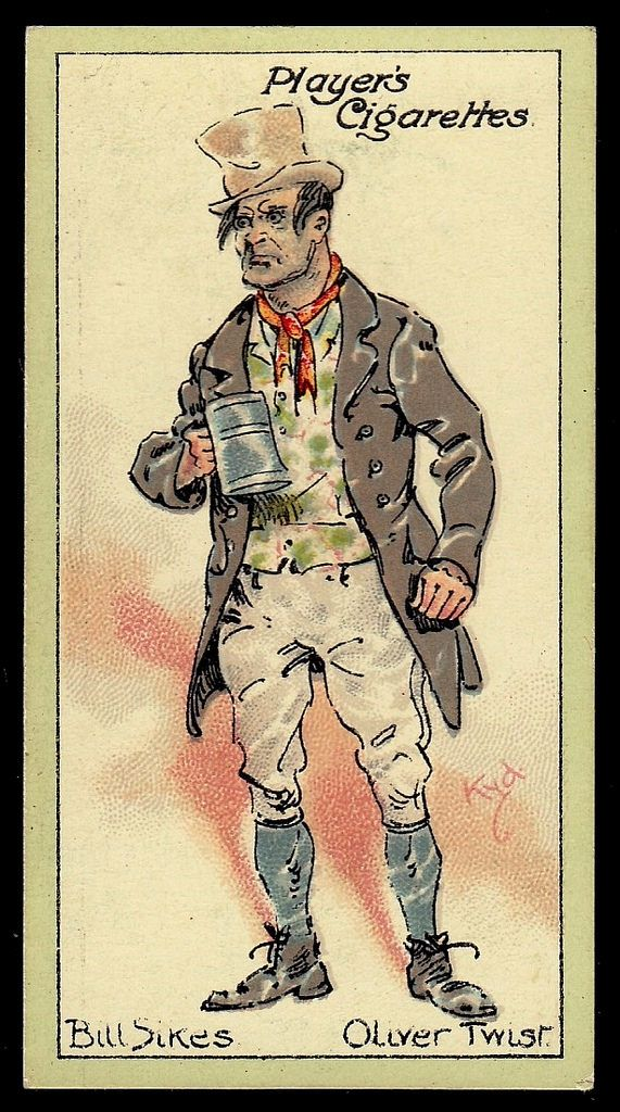 best oliver twist characters ideas oliver twist  items similar to vintage cigarette card blank greeting card bill sikes from oliver twist on