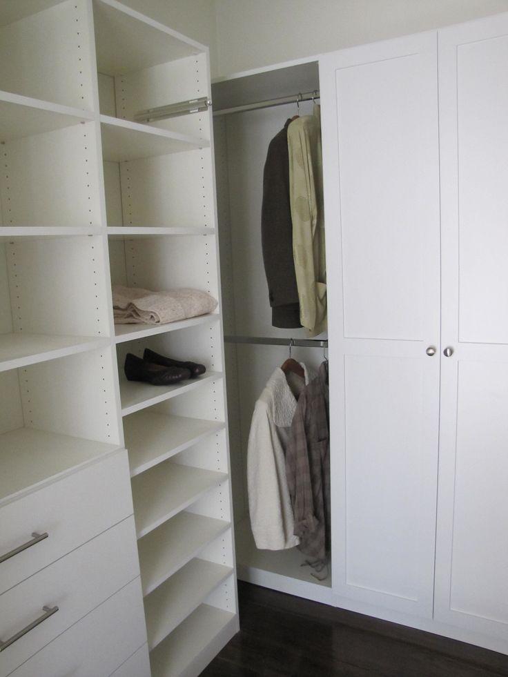 New Napa Closet With Extra Storage Behind Shaker Style Doors.