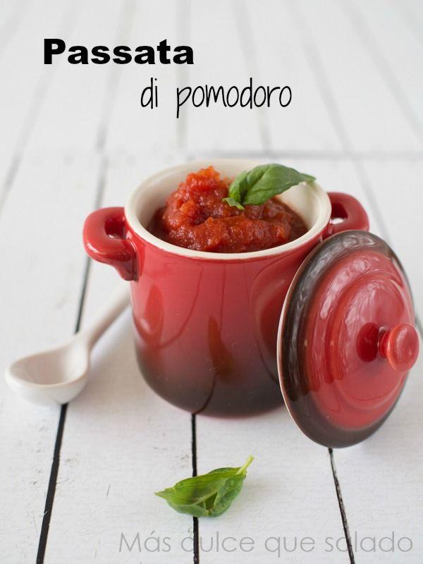 Más dulce que salado: Passata di pomodoro: Salsa de tomate concentrada. Receta italiana