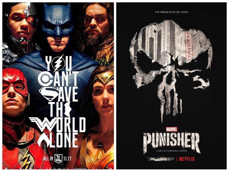 This weekend is looking pretty heroic. - - - - #justiceleague #punisher #justiceleaguemovie #punishernetflix #netflix #movie #movies #film #films #moviejunkie #filmjunkie #bingewatching #allin #marvel #dc