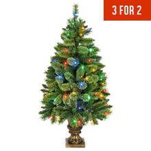 4ft Pre-Lit Needle Pine Christmas Tree