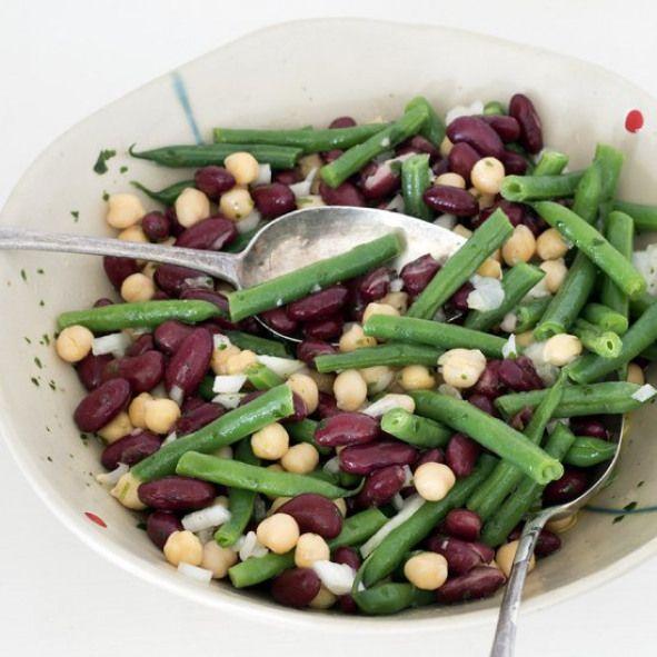Three Bean Salad Recipe With Fresh Green Beans