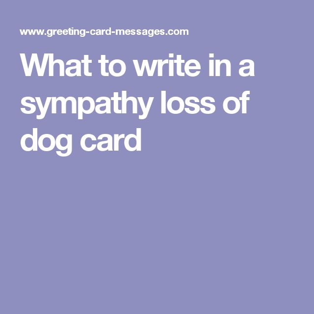 Sympathy Dog Quotes: What To Write In A Sympathy Loss Of Dog Card