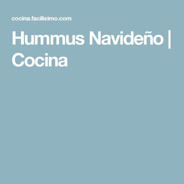 Hummus Navideño   Cocina
