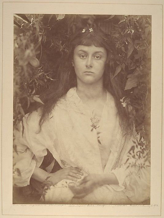 This is Alice Liddell (aka Alice in Wonderland) as captured by the wonderful Julia Margaret Cameron.