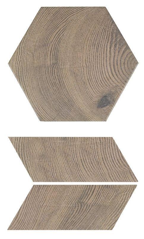 SAMPLE- Hexawood Old Porcelain Tile | Various Pattern Option | see desc