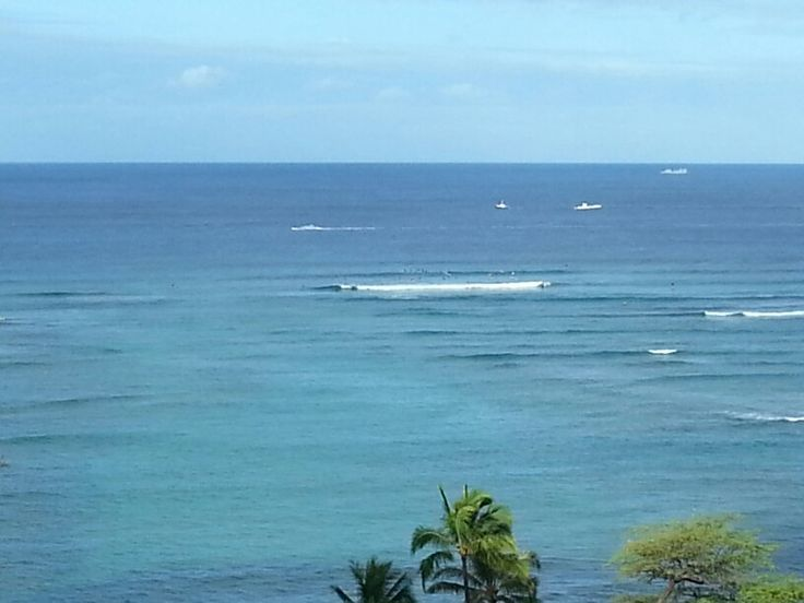 Back to our Waikiki Parc balcony and the white submarine.