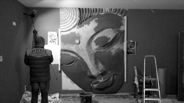 work in progress - buddha as wall decorations (created by Art-Kor)