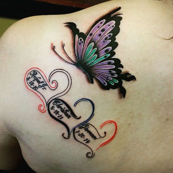 butterfly tattoos with names - Google Search