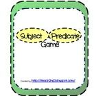 This subject and predicate game will be a great review for students!  Not only does the game reinforce subject and predicate skills, the game uses ...