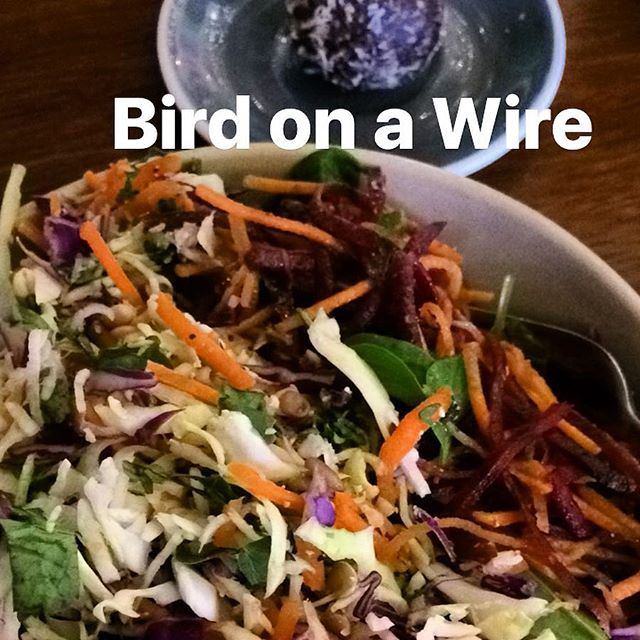 Healthy & delicious coleslaw and bliss ball lunch