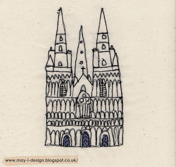 Day 25 today's prompt is 'home' embroidered Lichfield cathedral http://may-i-design.blogspot.co.uk/2015/03/spring-into-design-day-twenty-five.html