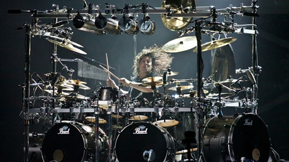 Mike Mangini of Dream Theater. Nice Kit.