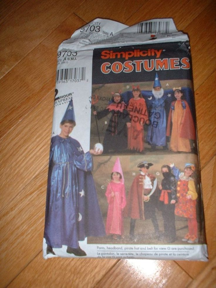 SIMPLICITY PATTERN 9703 ~ CHILD HALLOWEEN COSTUMES 8 STYLES ~ SZ S-L ~ NEW #simplicity