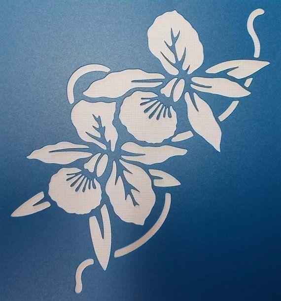 Orchideeën Stencil 02 van kraftkutz op Etsy