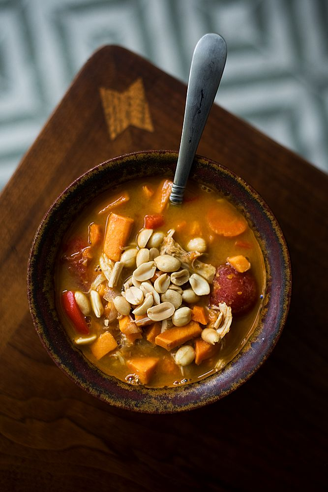 This recipe for Spicy Peanut Sweet Potato Soup is healthy, hearty and full of flavor. It also has just the right amount of kick to put the pep back in your step.: