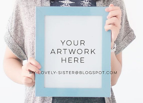 Frame Mockup, Blue Frames, Mock Up Frame, Styled Frame, Frame Stock Photo, Instant Download,Digital Download,Styled Stock Frame,Stock Photos