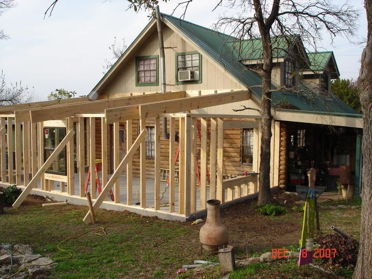 Cabin additions log cabin addition add it on for Log cabin sunroom additions