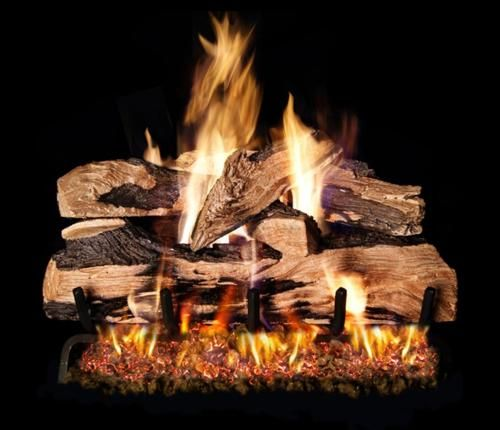 picture of Gas Logs Model SDPG4-18 - R.H. Peterson 18 inch Split Oak Designer Plus Gas Log for Natural Gas
