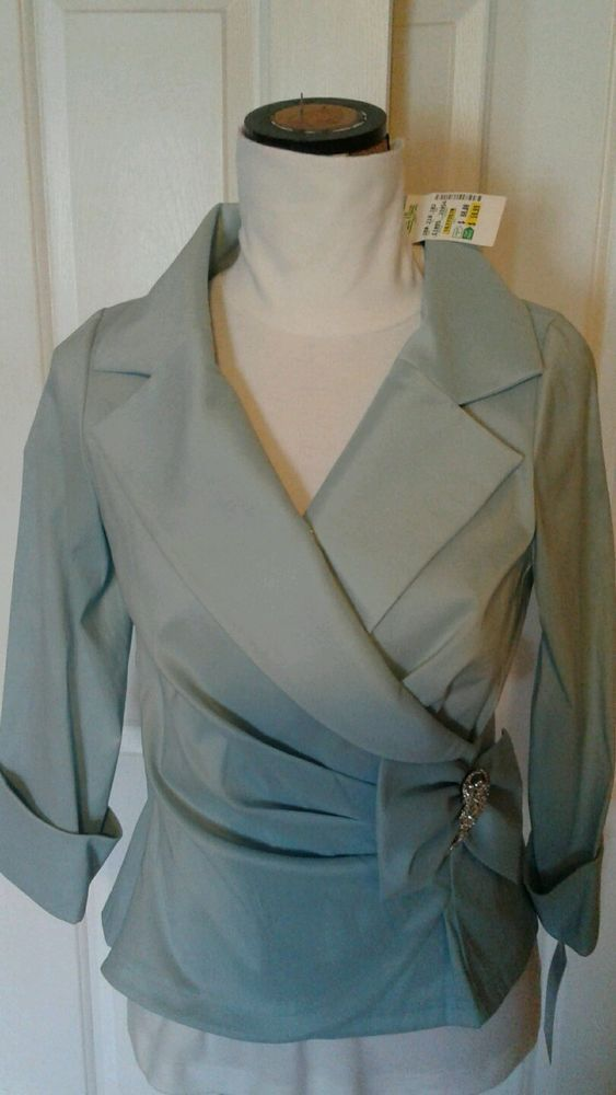 Victor Costa Occasion Formal Evening Casual Blouse Top Sz 10 Seafoam Green | eBay