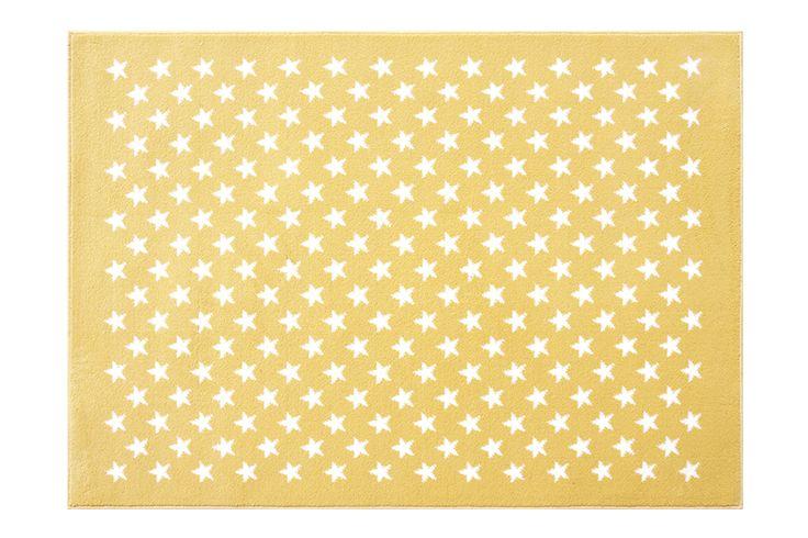 Acrylic Rug Stars Yellow / Alfombra acrílica estrellitas Yellow #softacrylicrugs #alfombrasacrilicas #stars #yellow #estrellitas #amarillo #lorenacanals