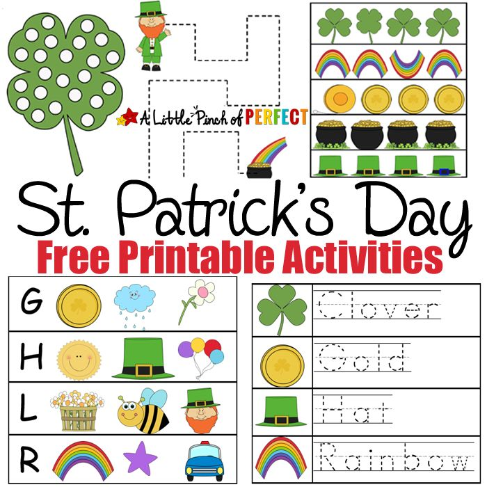 st patricks day free printable activities print and learn activities for kids including numbers - Activities For Kids To Print