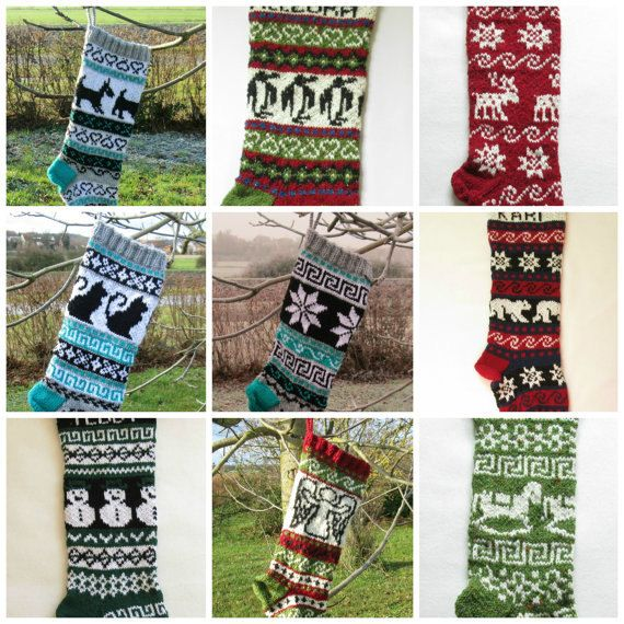 184 best Knitted Christmas Stockings images on Pinterest ...