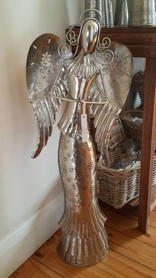 Large silver #angel available at the Taylor Made House. http://www.taylormadehouse.co.za/