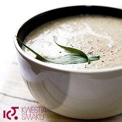 http://www.kwestiasmaku.com/kuchnia_polska/zupy/pieczarkowa/przepis.html Zupa pieczarkowa z estragonem. Przepis na zupę krem z pieczarek.