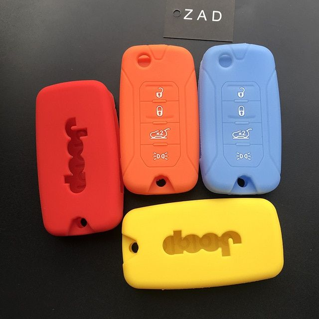 Zad Silicone Rubber Car Key Case Cover Fob For Jeep Renegade Hard