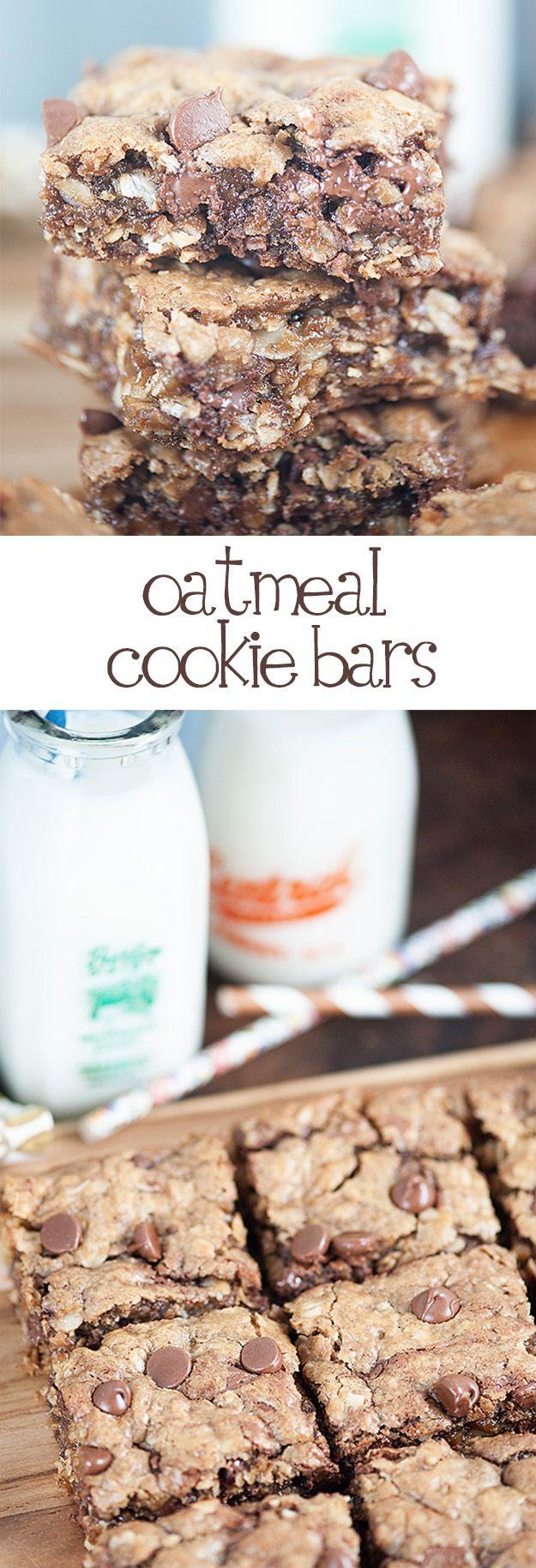 Oatmeal Cookie Bars // galletas de avena