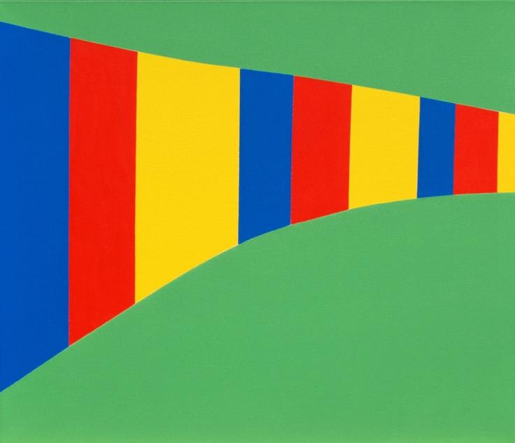 'The Knap' (2011) ~  28in x 24in ~ acrylic on canvas ~ Chris Billington