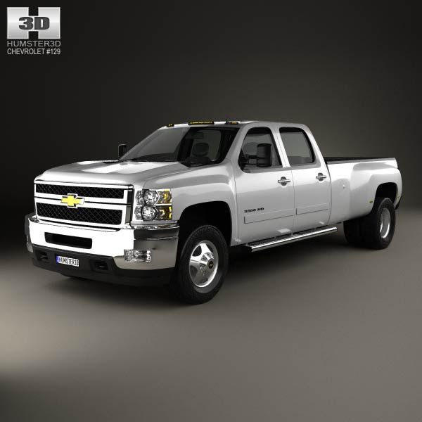 Chevrolet Silverado Crew Cab Dually 2010 3d model from humster3d.com. Price: $75
