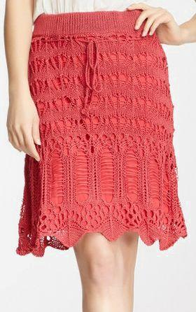Rosebud Distressed Crochet Skirt