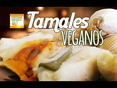 Tamales Veganos (Verdes, rojos y rajas con queso) - Cocina Vegan Fácil - YouTube