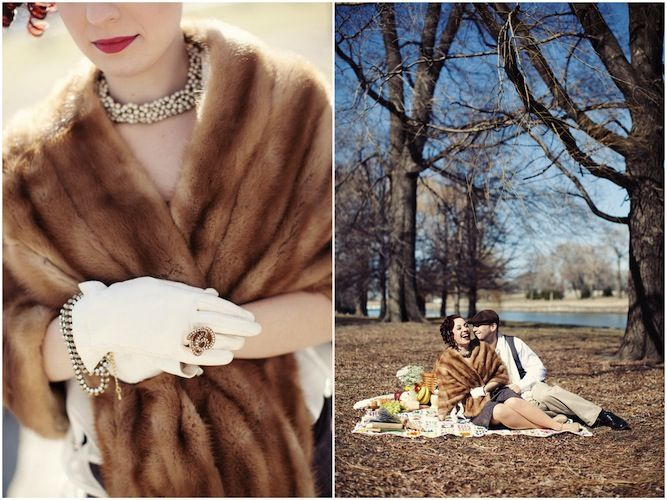 Glamourous Vintage Engagement Shoot