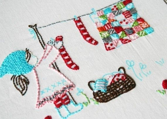 alittlesweetness embroidery patterns & fabric