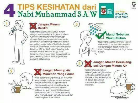 4 Tips Kesihatan Dari Nabi Muhammad S.A.W.