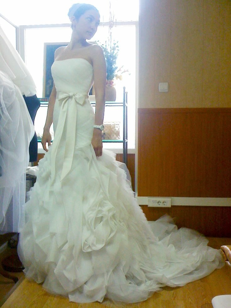 dress for Anya. The last fitting session.