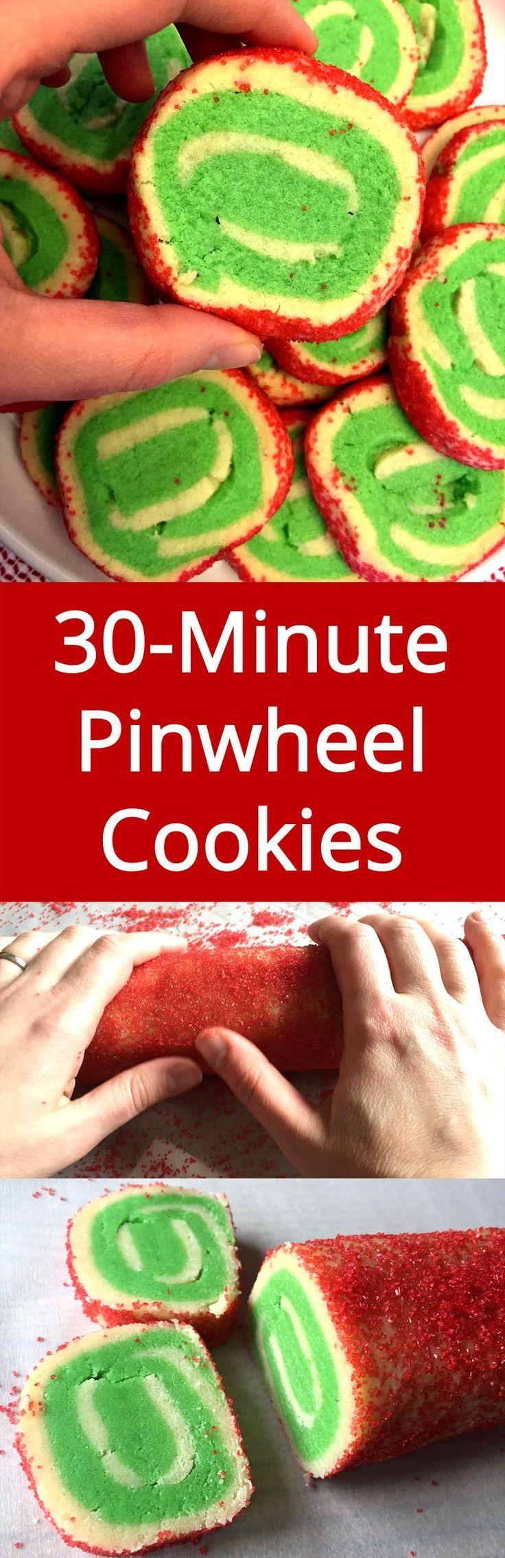 No need to chill the dough! I'm trying this ASAP! Love pinwheel sugar cookies!| http://MelanieCooks.com