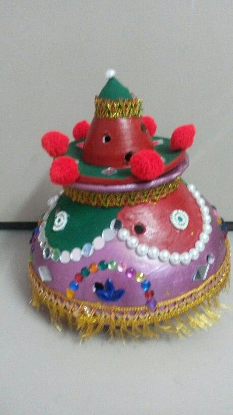 Kids can also decorate garbas