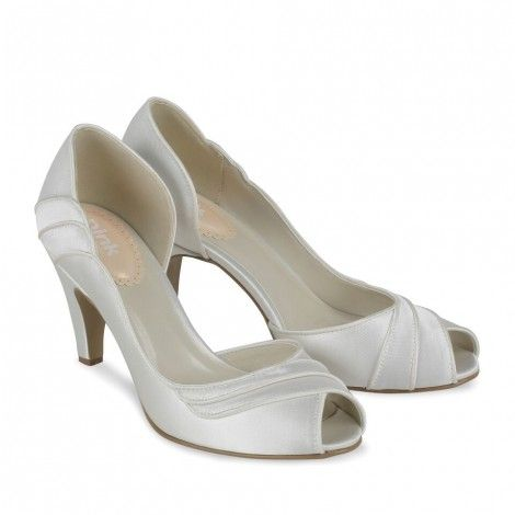 Paradox Pink Desire Ivory Satin Dyeable Wedding Shoes
