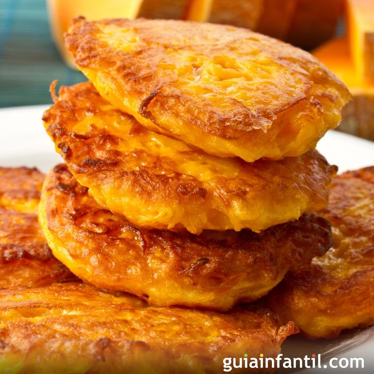 Pumpkin pancakes.  For a healthy snack for children