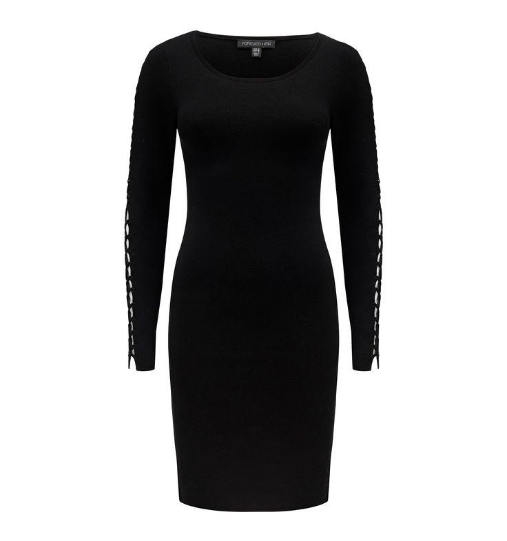 Kimberly Milano Lace Up Sleeve Dress Black - Womens Fashion | Forever New