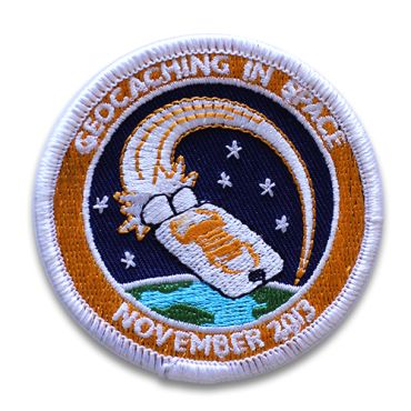 Add the Geocaching in Space Mission patch to your collection! We have them! #geocache #geocaching