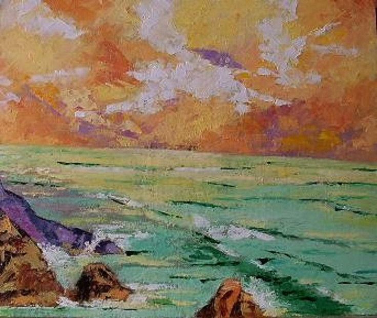 Titulo: Marina, óleo sobre cartón, 30 x 25, 225 €