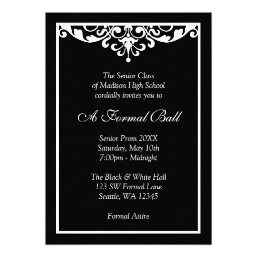 8 best Gala images on Pinterest Invitations, Gala invitation and - formal invitation