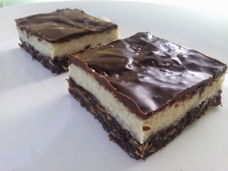 Chunky on Chia: Raw Chocolate Peppermint Slice