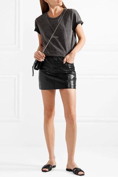 685c617dc2a0 SAINT LAURENT stylish Nu Pieds woven leather slides